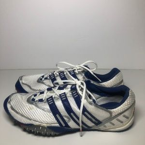 Blue & White Adidas Track Shoes